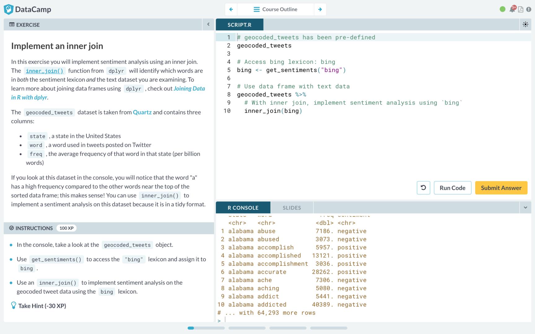 R SQL 教學 課程