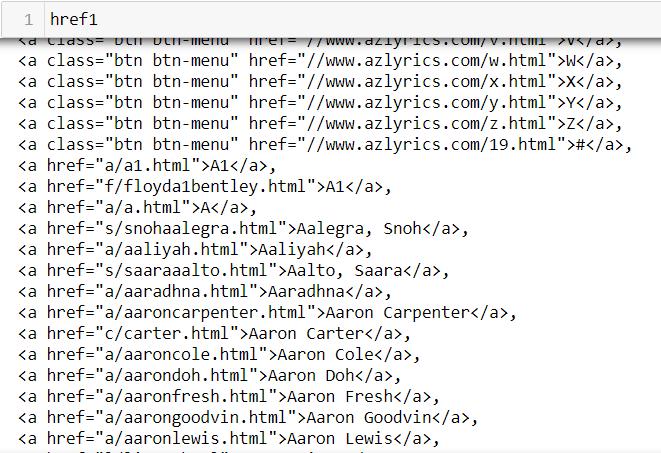 什麼是Python爬蟲?教你輕鬆爬取歌詞網站 href1